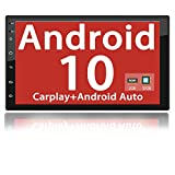 Binize Android 10 Car Stereo Radio 7 Inch Double Din with Apple Carplay/Android Auto/Bluetooth/GPS Navigation/AM/FM/RDS/DSP/Backup Camera Input/Mirror Link(7 inch Android 10 +Carplay+Android Auto)