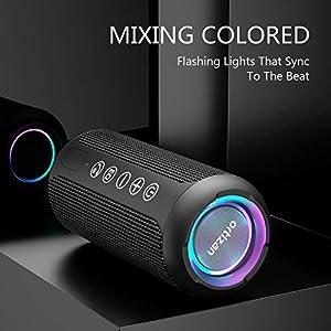 Ortizan Portable Bluetooth Speaker, IPX7 Waterproof Wireless Speaker with 24W Loud Stereo Sound, Outdoor Speakers with…