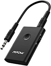 Mpow Bluetooth Transmitter and Receiver, Wireless Audio Adapter for 3.5mm Stereo, Bluetooth Transmitter for TV, Aux Bluetooth for Car/Home Stereo System, Slide Switch for Easy to Use