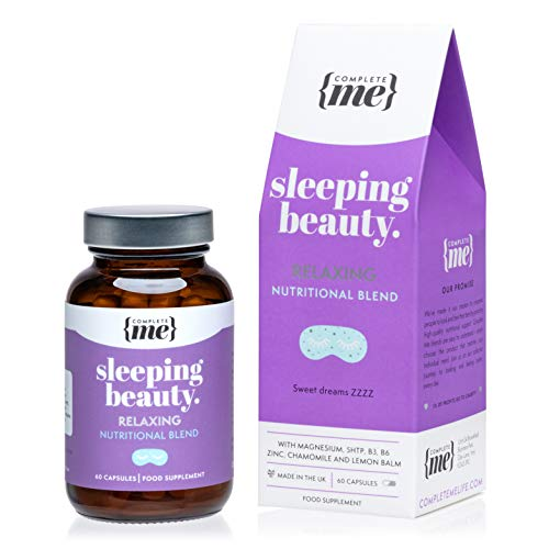 Complete Me Sleeping Beauty Supplements for Better Sleep, 60 Vegan Capsules