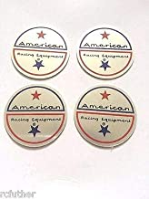 FidgetGear Set of 4 American Racing Vintage Wheel Rim Center Cap Sticker Decal 1.75