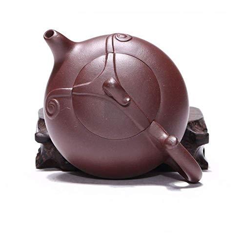 Słynny ręczny czajniczek z fioletową glinką kubek do herbaty Triplet Wishful Pot czajniczek ekspres do kawy z piaskiem (kolor: fioletowe błoto)