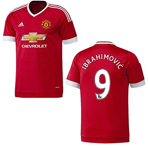 adidas Manchester United Trikot Home Herren 2015/2016 - Ibrahimovic 9, Größe:L