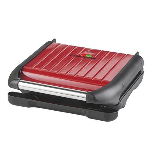 George Foreman Medium Red Steel Grill 25040
