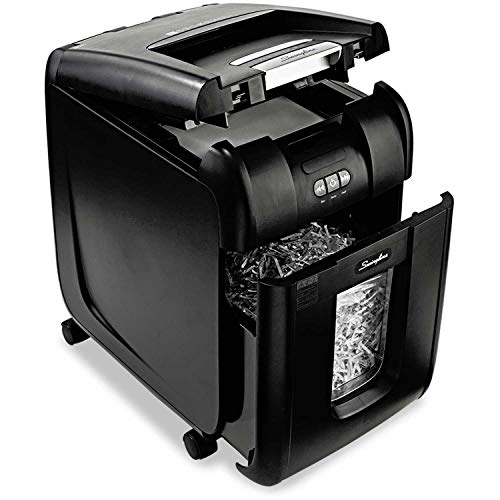 New Swingline 1703093 Stack-and-Shred 200XL Super Cross-Cut Shredder Bundle, 200 Sheet Capacity