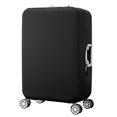 7-Mi Water Resistant Print Trolley Case Protective Cover for 28/29/30 Luggage Dust Cover Washable Travel Suitcase Protector L Black