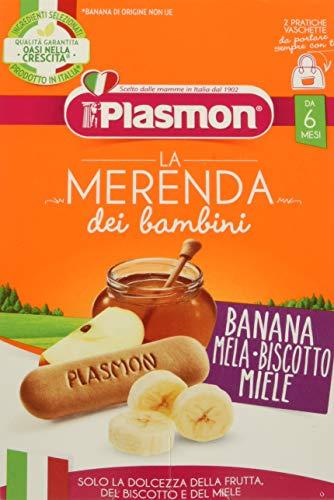 Plasmon Merenda, Banana Mela Biscotto e Miele, 24 x 120 g