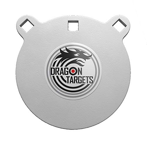 Dragon Targets AR500 Steel Targets 1/2 Inch Thick Laser Cut, Painted AR500 Gong Targets for Shooting, Steel Targets for Shooting Made in USA (6 in)