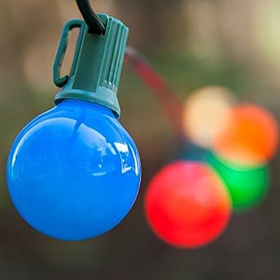 Wintergreen Lighting Outside Patio Lights – Backyard Patio Lights Globe Patio Lights – Wedding Lights Decorations; Glass Patio Lights – Patio Lights