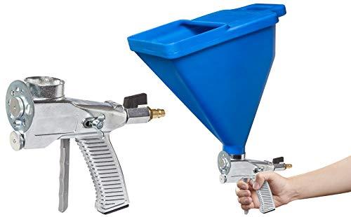 Colorus Trichterpistole 6 Liter | Putzpistole mit 9-Loch Düsenscheibe, Bohrungen von 4-13 mm | Spritzpistole mit Mengenregulierung | Trichterspritzpistole mit Anschlussstück und Luftbahn