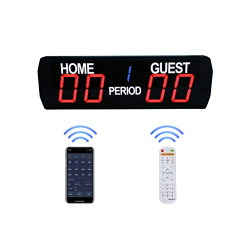 GAN XIN APP Control and Remote Control 5 Digits LED Electronic Scoreboard Indoor Use Basketball/Football Game Scoreboard