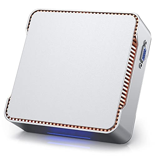 Mini PC, computadora Windows 10 Pro Procesador Intel Celeron J4125 (hasta 2.7GHz)...