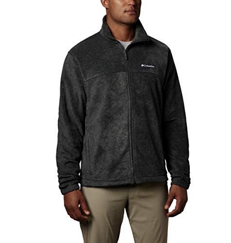 Columbia Men's Steens Mountain Full Zip 2.0, Soft Fleece with Classic Fit, Charcoal Heather, Small
