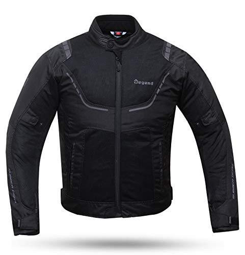 Degend Breeze Man – Abbigliamento da moto | Giacca da moto da uomo, impermeabile e traspirante, taglie S-6XL nero L