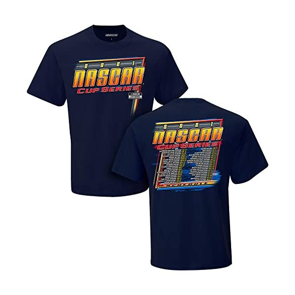 Checkered Flag Sports 2021 NASCAR Cup Series Schedule T-Shirt