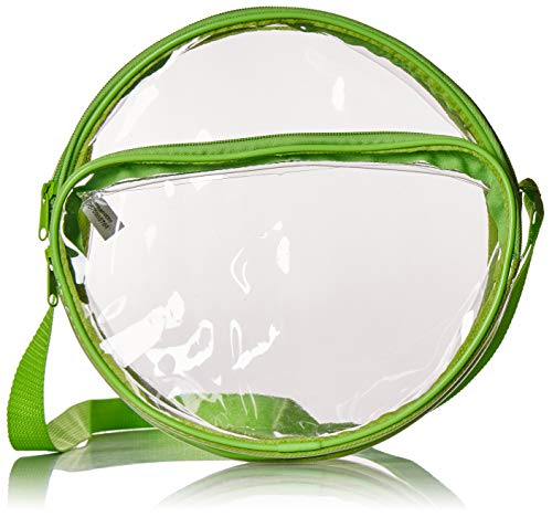 Nova Sport Wear 10 Inch Round Clear Messenger Bag For Events/Transparent Purse For Stadiums/Clear Bag For Men And Women (Green)