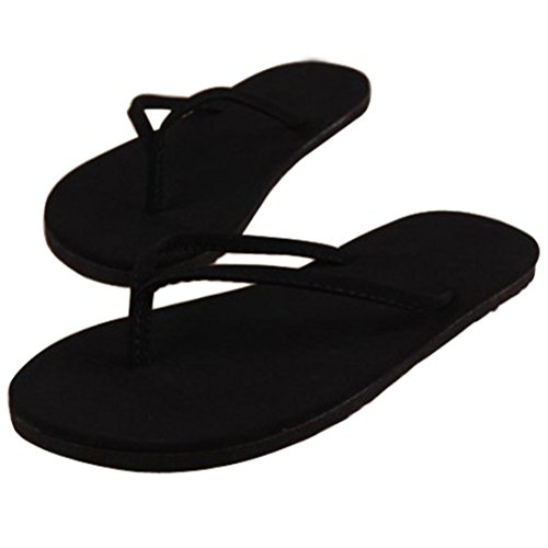 Flip Flops Women, Sunday Sommer Hausschuhe Frauen Sommer Flip Flops Schuhe Sandalen Slipper Indoor Outdoor Flip-Flops (39, Schwarz)