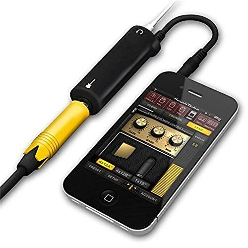 Guitarra Interface Conversor Adaptador para iPhone/iPod/iPad, Multimedia Tocar la Guitarra en Cualquier Momento y en Cualquier Lugar