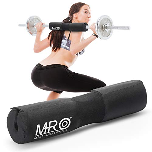 MRO Barbell Pad Squat Bar Padding Foam Hip Thrust Lunges Gym Weight Lifting Cushion Neck Shoulder Protector - Fits Olympic Standard Weight Lifting Bar
