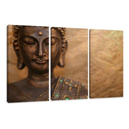 Cuadros en Lienzo Buda 160 x 90 cm Modelo Nr. 1041 XXL Las imágenes Estan Listas, enmarcadas en Marcos de Madera auténtica. El diseño de la impresión artística como un Mural Enmarcado.