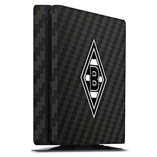 DeinDesign Skin kompatibel mit Sony Playstation 4 PS4 Slim Aufkleber Folie Sticker Gladbach Borussia Mönchengladbach Carbon