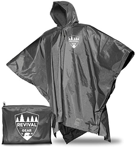 Rain Ponchos for Adults: Best Rain Jacket Waterproof Poncho for Women Men Boys & Kids. Black Raincoat With Hood Suits Outdoor Hiking Gear. Lightweight Reusable Packable Totes Emergency Rain Coat Cover