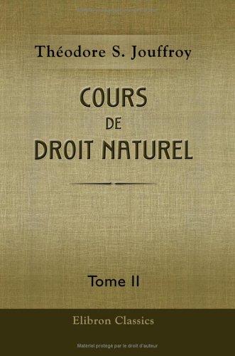 Cours de droit naturel: Tome 2