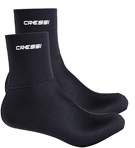 Cressi, Black Resilient Calzare in Neoprene 5 mm, Unisex, Nero, XS (36/37)