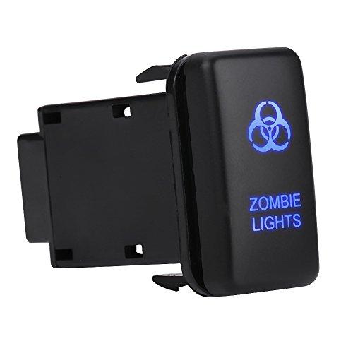 Interruptor basculante para automóvil Qiilu Interruptor basculante del coche Interruptor de luz LED de encendido para Toyota Hilux Land Cruiser/VIGO, etc(luz zombie)