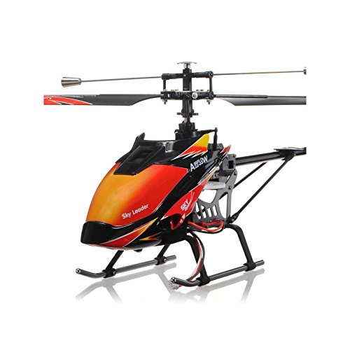 RCTecnic Remote Control Helicopter RC Wltoys V913 4 Channels 2.4Ghz and Gyroscope | Radio Control Helicopter with 5 Flight Levels Size: 70cm