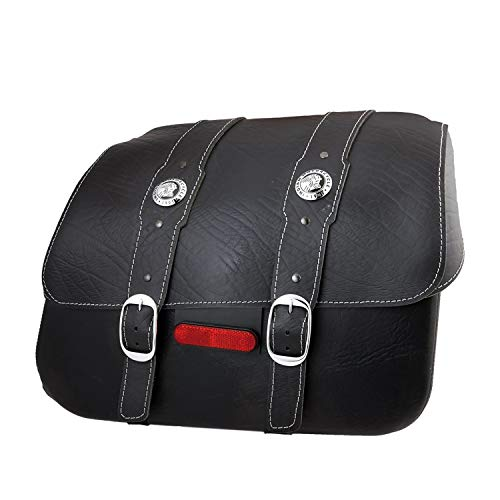 Best Prices! 2015-2020 Genuine Indian Scout Leather Saddlebags - Black - 2880234-01