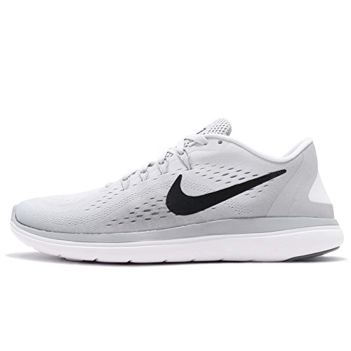 NIKE Mens Flex 2017 RN Pure Platinum Black Grey Grey Size 7