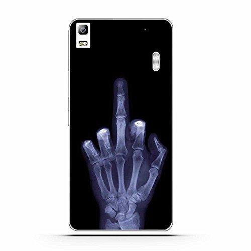 FUBAODA Funda para Lenovo K3 Note Serie de Hueso Artística,Fina,Resistente a los arañazos en su Parte Trasera,Amortigua los Golpes,Funda Protectora Anti-Golpes para para Lenovo K3 Note(A7000)
