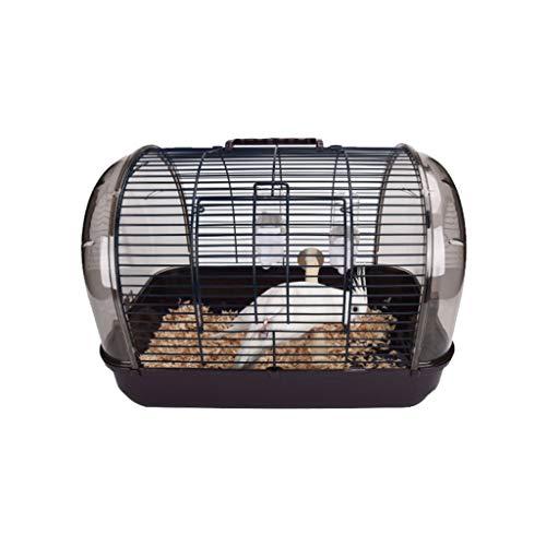 YINGZI Jaula Jaula para Parrot Finch Canary Lovebird Travel Transparent Bird Cage Completo con Accesorios y Soporte Fácil De Llevar Hacer y Decorar (tamaño : Coffee41x27cm)