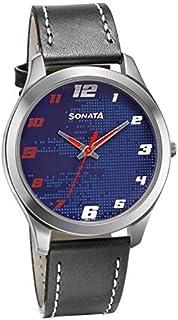 سوناتا ، مقاومة للماء، ميناء أزرق، ساعة رجالي