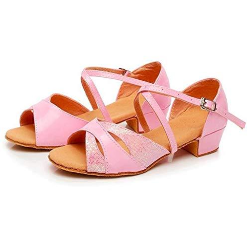 acction Zapatos de Baile Latino para el salón de Baile con Purpurina y Salsa para Mujer/Niñas Zapatos de Baile,Modelo 351