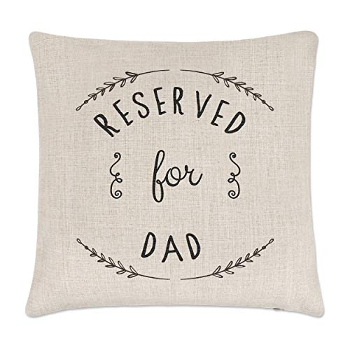 Gift Base Reserved For Dad Linen Cushion Cover
