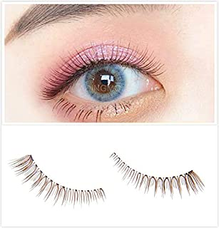 Dorisue Natural Brown Eyelashes 3D Light Color False Eyelashes Short Handmade Colorful Style Natural False Eyelashes Eye Makeup Fake Eyelashes
