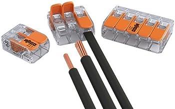 Wago verbindingsklemmen, set van 30 stuks, 15 x 2 ladders, 10 x 3 ladders, 5 x 5 geleiders met bedieningshendel, 0,2-4 m...