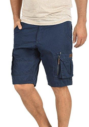 Blend Gaara Pantalón Cargo Bermudas Pantalones Cortos para Hombres De 100% algodón Regular-Fit, tamaño:S, Color:Navy (70230)