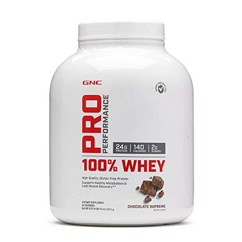 GNC Pro Performance 100% Whey Protein Powder - Chocolate Supreme, 64 Servings, Supports Healthy Metabolism and Lean Muscle Recovery