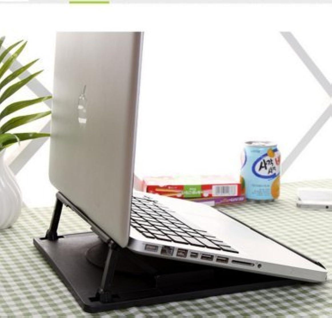 解任ルール犯す【ノーブランド】肩こり解消 ノートパソコン スタンド 角度調整 7段階 + 回転 (13インチ以上PCに) ブラック (280(D)×260(W)×70(H)mm)