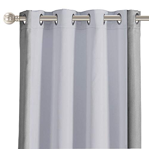 LORDTEX Color Block Blackout Curtains for Kids Room -Color Bordered Thermal Insulated Curtains Noise Reducing Window Drapes for Boys and Girls...