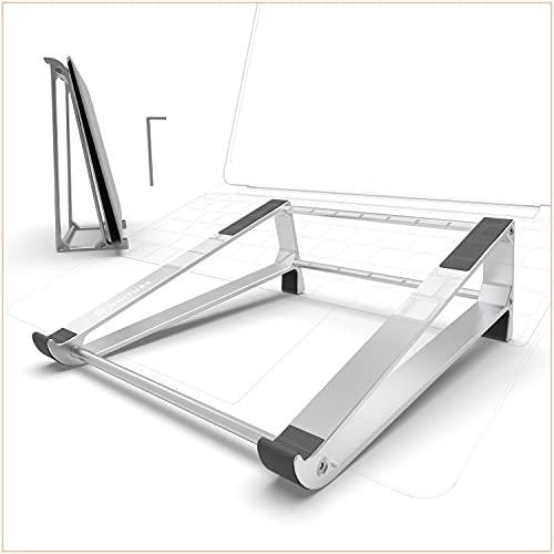 UNITURE® - 2-in-1 Laptopständer - Aluminium Laptop Stand - Ergonomie Notebook Ständer - Hochwertige Laptop Halterung