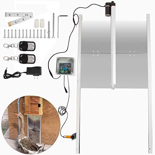 LOVSHARE Automatic Duck Door Opener Kits W/Time Sensor Induction 20'' Wide Automatic Chicken Coop Door Opener with Infrared Sensor to Prevent Chicken,Duck,Goose from Crushed Duck Coop Door Opener