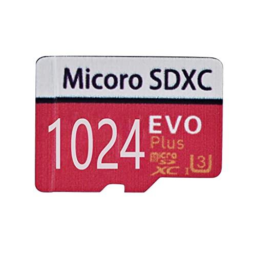 Carte mémoire Micro SD Haute Vitesse 1024/400/512/256 Go conçue pour Smartphones Android, tablettes Classe 10 Carte mémoire SDXC avec Adaptateur (1024go)