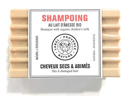 Champú sólido con leche de burra orgánica - Para cabello seco y dañado o con leche de burra orgánica