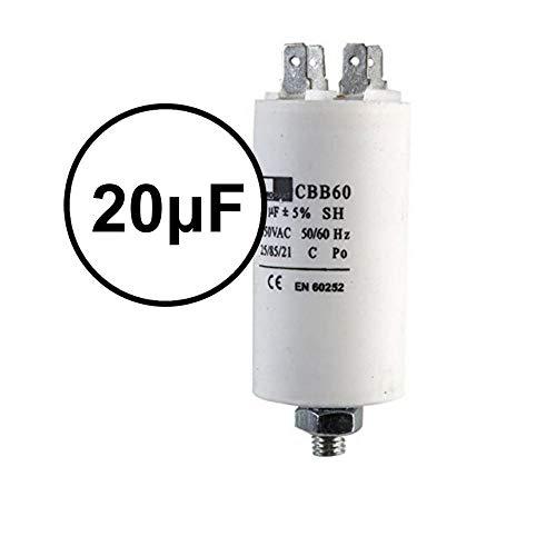 UTP 20µF Start Run Motor Kondensator Kompressor Klimaanlage Wasserpumpe 20uF (Microfarad) CBB60