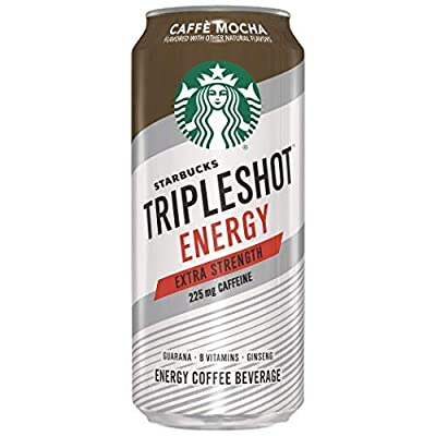 Starbucks Tripleshot Energy Extra Strength, Caffe Mocha, 15oz Cans (12 Pack)