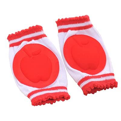 DFGER Almohadillas de la Rodilla para el bebé Protector de rastreo Niños Kneecaps Niños Dibujos Animados Anti resbalón Grils Boys Calentadores de piernas Arneses Cleas (Color : Red)